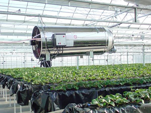 吊り下げ・置き式兼用CO₂施肥機 「ダッチジェット」